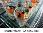 sushi rolled canape   Shutterstock . vector #655852483
