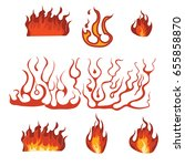 fire flame set | Shutterstock .eps vector #655858870