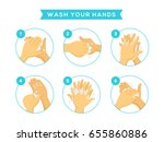 wash your hand | Shutterstock .eps vector #655860886
