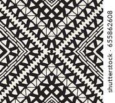 black and white tribal vector... | Shutterstock .eps vector #655862608
