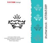 web line icon. christmas... | Shutterstock .eps vector #655865389