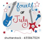 fourth of july music | Shutterstock . vector #655867024