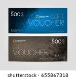 gift voucher template design | Shutterstock .eps vector #655867318