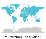 map of united nation with blue... | Shutterstock .eps vector #655868653