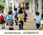 group of diverse kindergarten... | Shutterstock . vector #655869010
