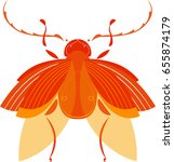 orange beetle bug insect | Shutterstock .eps vector #655874179