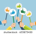 group of business people with... | Shutterstock .eps vector #655875430
