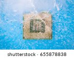 frozen micro chip | Shutterstock . vector #655878838