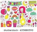 summer vector elements... | Shutterstock .eps vector #655880593