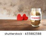 money savings for honeymoon in... | Shutterstock . vector #655882588