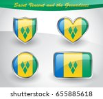 glossy saint vincent and the... | Shutterstock .eps vector #655885618
