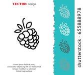 web line icon. raspberries | Shutterstock .eps vector #655888978