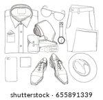 vector illustration of hand... | Shutterstock .eps vector #655891339