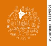 indian vector icons circle set | Shutterstock .eps vector #655895908