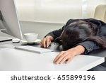 tired of work   Shutterstock . vector #655899196