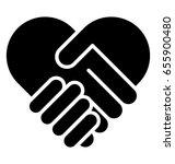 shake hand glyph vector icon  | Shutterstock .eps vector #655900480