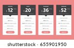 pricing table template for web... | Shutterstock .eps vector #655901950