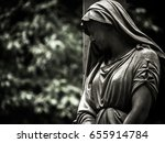 Statue Of Mary At An Old...