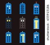 Set Of British Police Boxes....