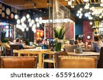 blurred restaurant or cafe... | Shutterstock . vector #655916029