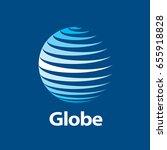 vector logo globe | Shutterstock .eps vector #655918828