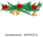 golden bells with red bow | Shutterstock .eps vector #65592271