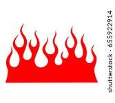 flame tattoo tribal vector... | Shutterstock .eps vector #655922914