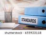 standards  office binder on... | Shutterstock . vector #655923118