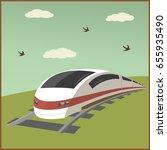 train poster illustration   Shutterstock .eps vector #655935490