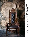 royal throne for king and queen.... | Shutterstock . vector #655946479