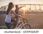 beautiful romantic couple is... | Shutterstock . vector #655946839