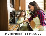 portrait of excited mom and... | Shutterstock . vector #655953730
