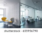 3d modern office interior render | Shutterstock . vector #655956790
