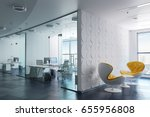 3d modern office interior render | Shutterstock . vector #655956808