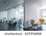 3d Modern Office Interior Render