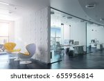 3d modern office interior render | Shutterstock . vector #655956814