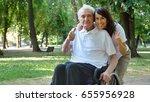 granddaughter  nurse  caring... | Shutterstock . vector #655956928