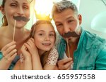 happy family fun making selfie  | Shutterstock . vector #655957558