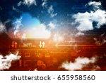 3d rendering cloud computing | Shutterstock . vector #655958560