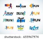 sport club  running club vector ... | Shutterstock .eps vector #655967974