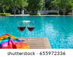 Two Glasses Of Red Wine  Linke...
