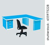 desk. office table and office... | Shutterstock .eps vector #655975228