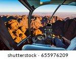 helicopter cockpit flight... | Shutterstock . vector #655976209