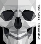 modern polygonal flat hipster...   Shutterstock .eps vector #655977058