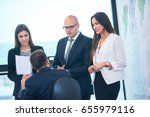 business people group on... | Shutterstock . vector #655979116