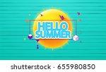 hello summer vector background  ...   Shutterstock .eps vector #655980850