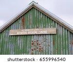 weather beaten corrugated iron...   Shutterstock . vector #655996540