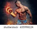 shirtless abdominal suntanned... | Shutterstock . vector #655998124