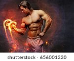 the shirtless abdominal male... | Shutterstock . vector #656001220