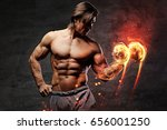 the shirtless abdominal male... | Shutterstock . vector #656001250